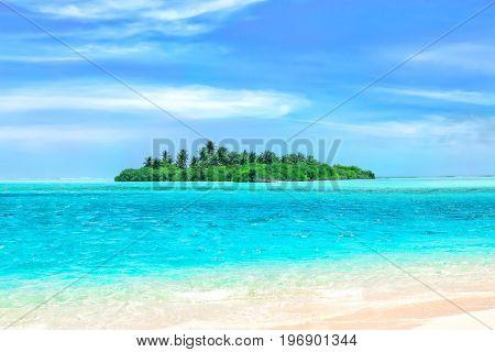 Beautiful landscape at tropical resort