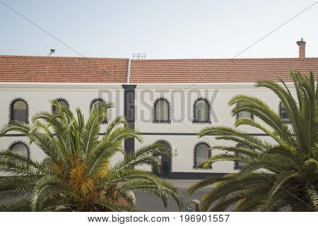 the Museu de Portimao and old Factory of sardines Fish can factory Fabrica de conservas la rose in the city of portimao at the Algarve of Portugal in Europe.