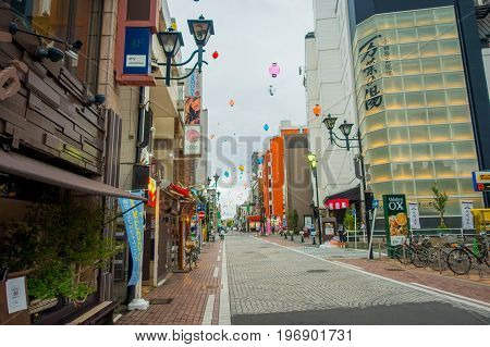 HAKONE, JAPAN - JULY 02, 2017: Beautiful view of streets. It also provides bus stop for Hakone Tozan Bus back to Hakone-Yumoto and Odawara.