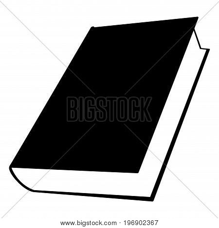 Isolated Book Silhouette