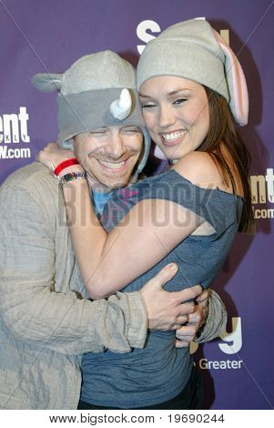 SAN DIEGO, CA - JULY 24:  Seth Green and wife arrive at the SyFy/EW party held July 24, 2010 at the Hotel Solamar in San Diego, CA.