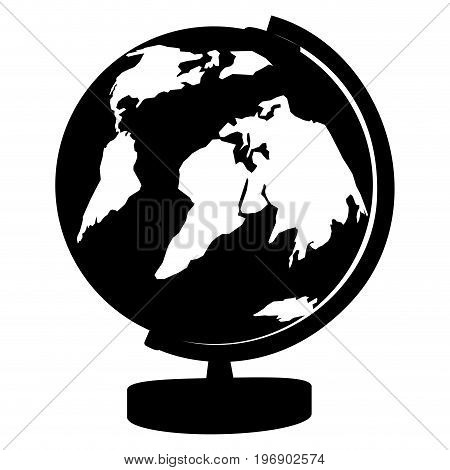 Isolated Globe Silhouette