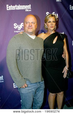 SAN DIEGO, CA - JULY 24:  Michael Chiklis & Julie Benz arrive at the SyFy/EW party held July 24, 2010 at the Hotel Solamar in San Diego, CA.
