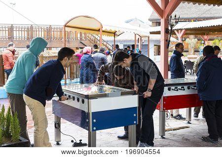ISTANBUL, TURKEY - 8 APRIL , 2017: Vialand themed entertainment amusement park