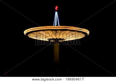Blurred Carousel At Night