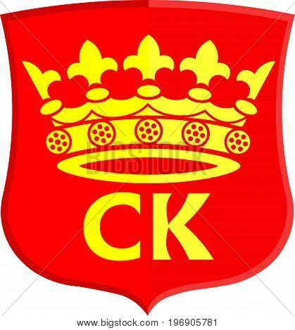 Coat of arms of Kielce is a capital city of Swietokrzyskie Voivodeship in south central Poland. Vector illustration
