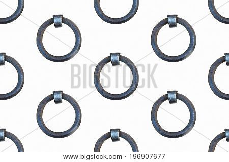 mooring ring at the harbor on white background