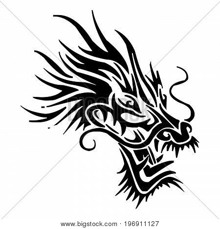 Dragon Tattoo White Vector Photo Free Trial Bigstock