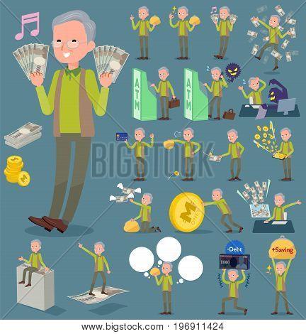 Flat Type Green Vest Grandfather_money