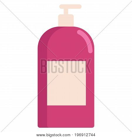 Body lotion, shampoo, milk for skin care icon, vector illustration flat style design isolated on white. Colorful graphics