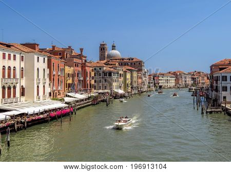 Venice - Architecture Of Venice Along Grand Canal