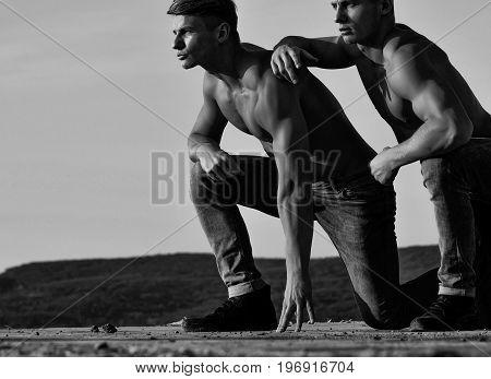 Bodybuilders Or Twin Men