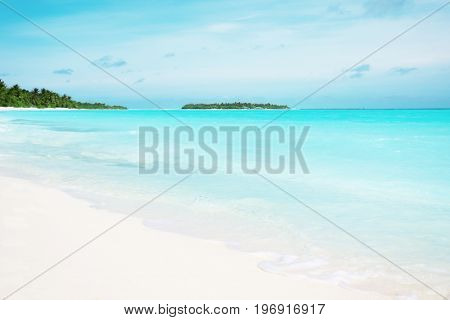 View of sea beach at tropical resort