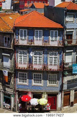 Editorial: 6Th June 2017: Porto, Portugal. Aerial Panoramic View