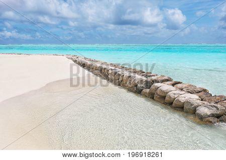 View of beautiful beach at sea resort