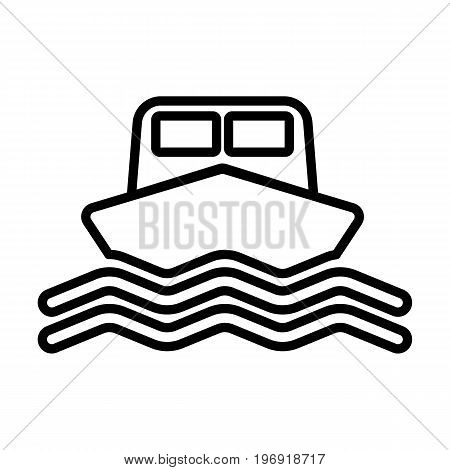 Ship line icon. Boat sign in outline style. Vector illustration