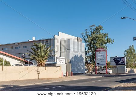 WINDHOEK NAMIBIA - JUNE 15 2017: The Omuramba Medical Centre in Eros a suburb of Windhoek the capital city of Namibia