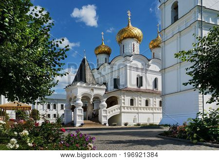 Christianity Trinity cathedral in Ipatievsky monastery Cradle of the house of Romanov and Godunov Russia Kostroma city
