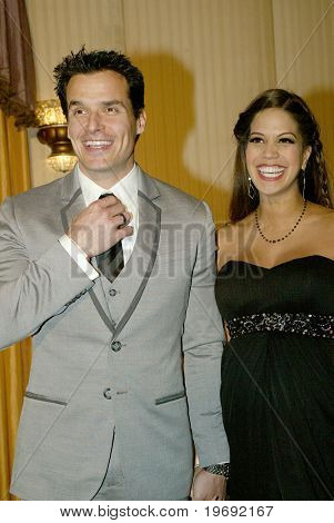 BEVERLY HILLS - FEB. 27: Antonio Sabato Jr. & wife arrive at the Norby Walters 21st Annual Night of 100 Stars Oscar Viewing Party on Feb. 27, 2011 at the Beverly Hills Hotel in Beverly Hills, CA.