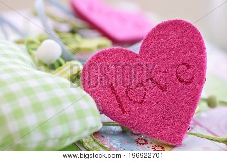 Colorful Hearts For Decoration