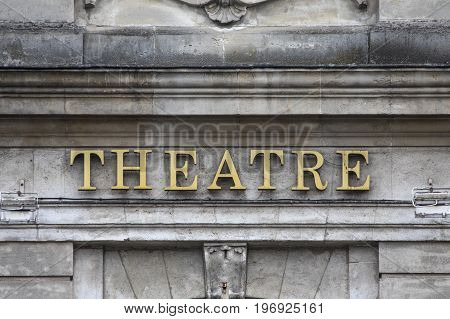 The sign on Theatre du Nord in the historic city of Lille in France.