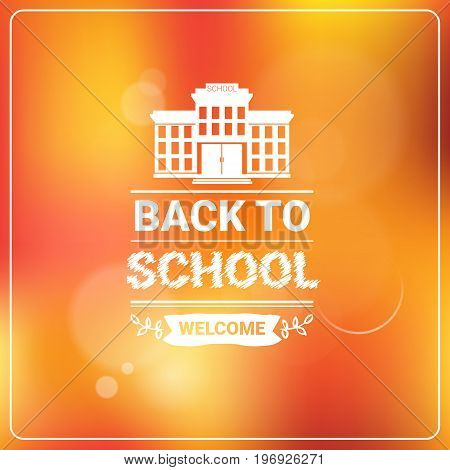 Welcome Back To School Colorful Logo Vector Illustration