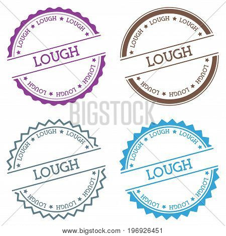 Lough Badge Isolated On White Background. Flat Style Round Label With Text. Circular Emblem Vector I