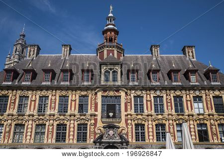 A view of the magnificent Vieille Bourse situated in Grand Place in Lille France.