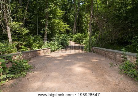 The bridge over the Blue Brook at the Watchung Reservation