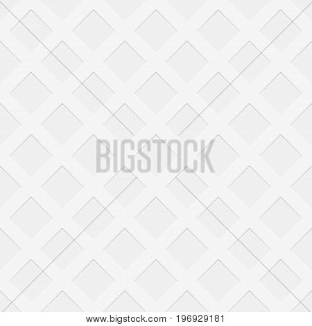 Repeating perforated texture background - spatial abstract vector graphic pattern from negative diagonal square shaped holes with shadow effect