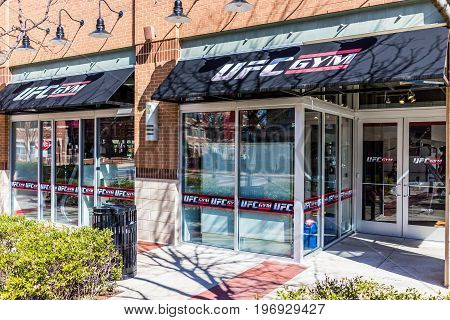 Fairfax, Usa - March 4, 2017: Ufc Gym Entrance With Signs