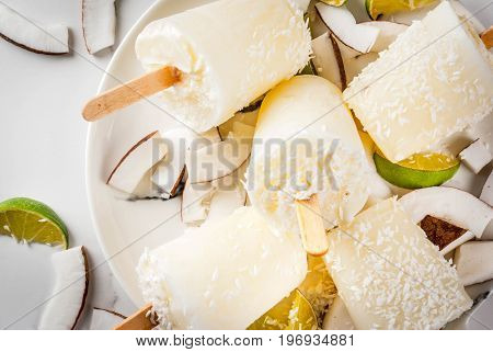 Coconut And Lime Popsicles