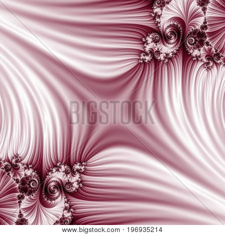 Pink fractal. Abstract illustration. Blurred copy space.