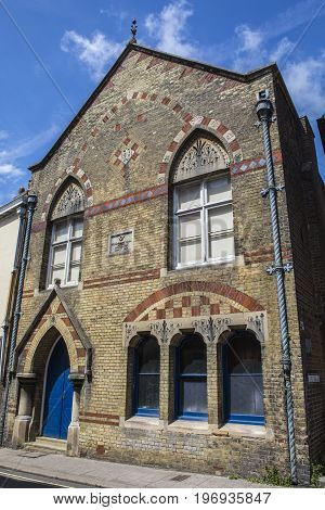 LEWES UK - MAY 31ST 2017: The Freemasons Hall in the historic town of Lewes in East Sussex UK on 31st May 2017.