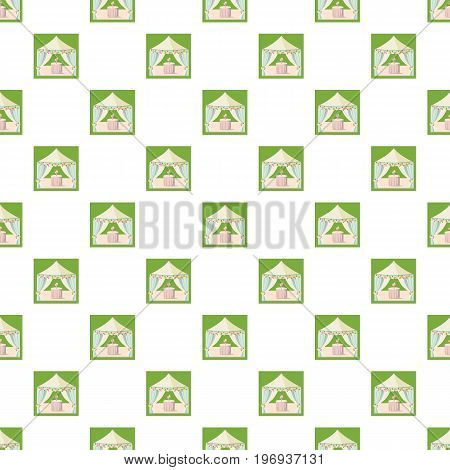 Wedding marquee pattern seamless repeat in cartoon style vector illustration