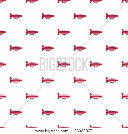 Airship pattern seamless repeat in cartoon style vector illustration