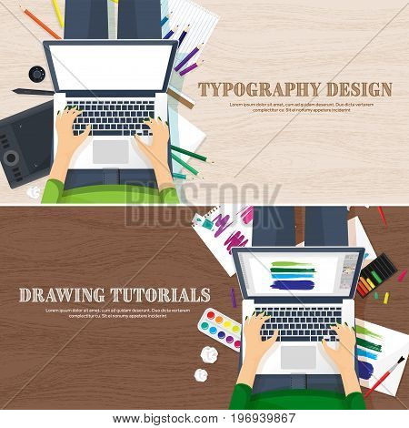 Graphic web design. Drawing and painting. Development. Illustration, sketching, freelance. User interface UI Computer laptop