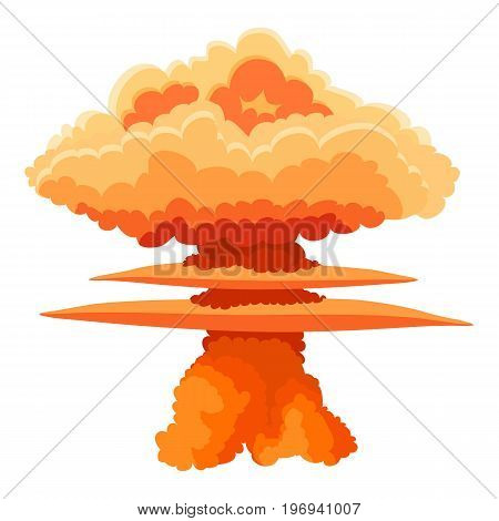 Nuclear explosion icon. Cartoon illustration of nuclear explosion vector icon for web