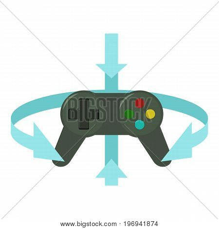 Joystick icon. Cartoon illustration of joystick vector icon for web on white background
