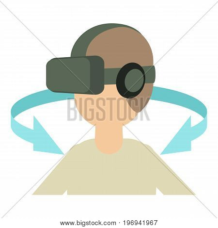 Vr headset icon. Cartoon illustration of vr headset vector icon for web on white background