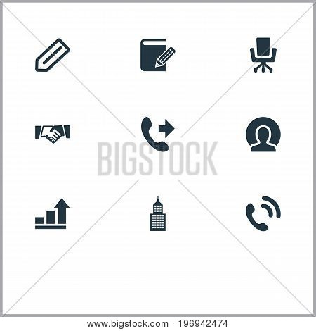 Elements Building, Telephone, Report And Other Synonyms Vacancy, Business And Service.  Vector Illustration Set Of Simple Partnership Icons.
