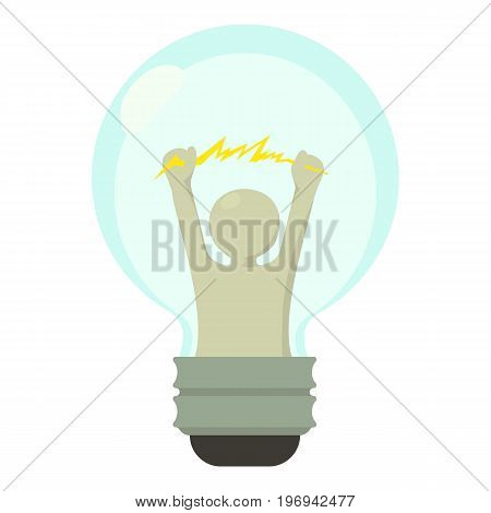 Smart light bulb icon. Cartoon illustration of smart light bulb vector icon for web on white background