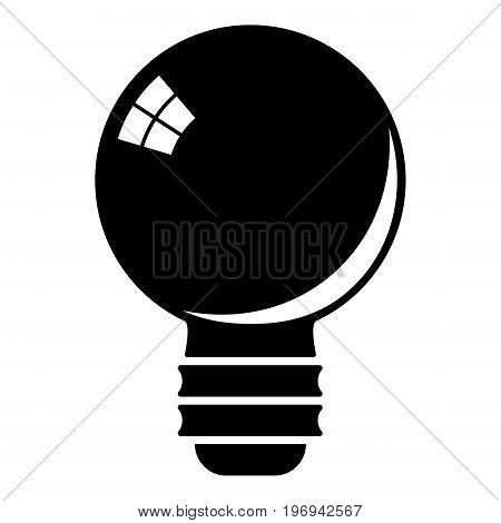Black light bulb icon. Cartoon illustration of black light bulb vector icon for web on white background