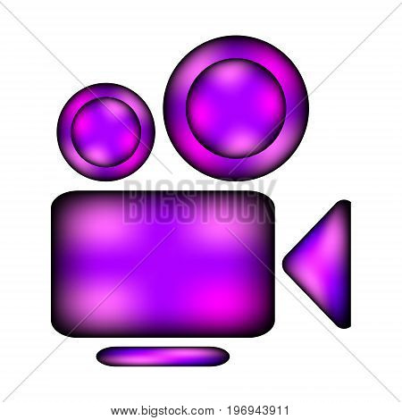 Camera icon sign on white background. Vector illustration.