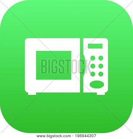 Vector Electronic Oven Element In Trendy Style.  Isolated Microwave Icon Symbol On Clean Background.