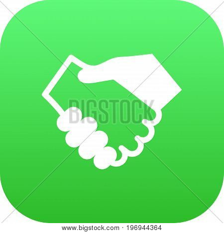 Vector Partnership Element In Trendy Style.  Isolated Handshake Icon Symbol On Clean Background.