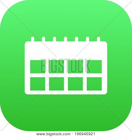 Vector Data Element In Trendy Style.  Isolated Calendar Icon Symbol On Clean Background.