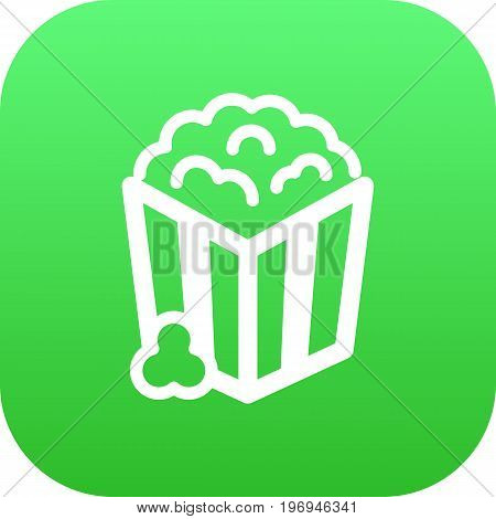Vector Snack Element In Trendy Style.  Isolated Popcorn Icon Symbol On Clean Background.