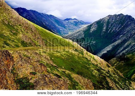 A view of a hiking trail in the Eagle River area of Alaska