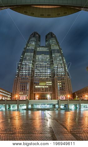 Tokyo Metropolitan Government Building At Night